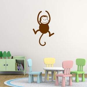 Swinging Monkey Wall Sticker - baby & child sale
