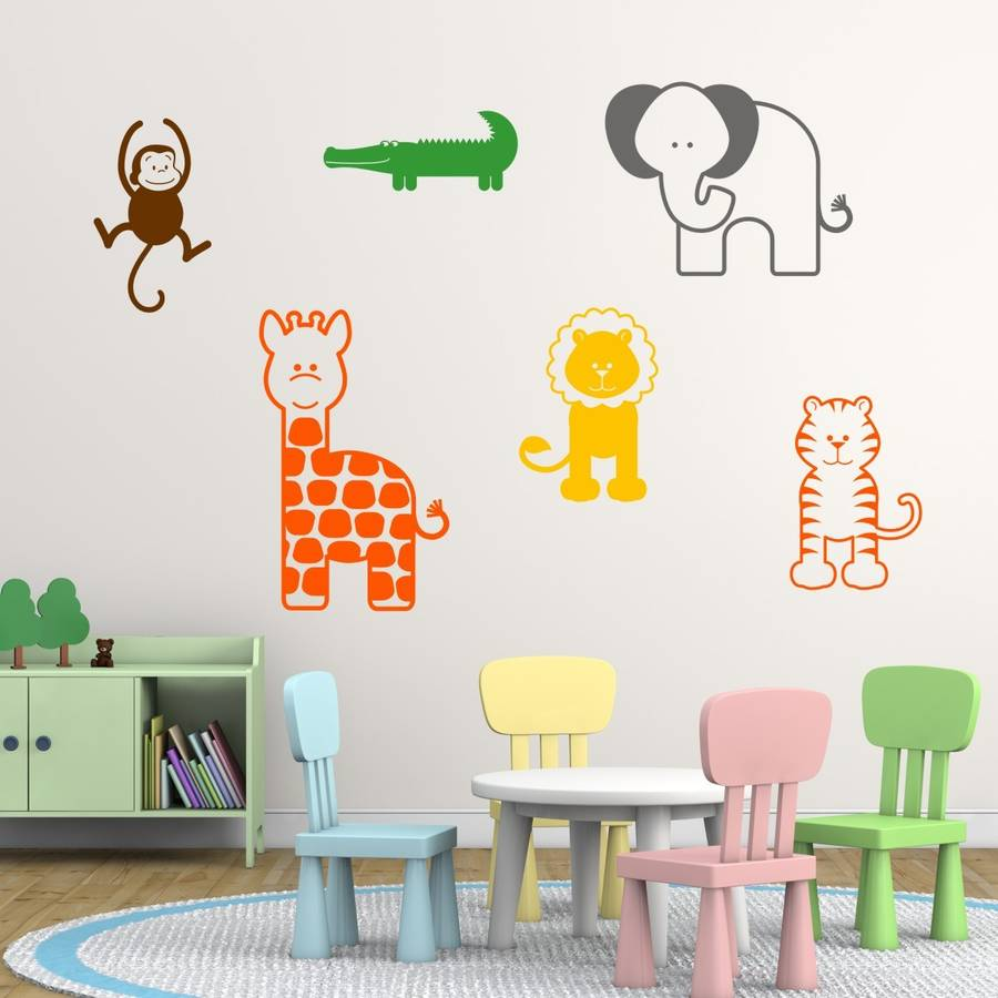 nursery animal wall stickers by mirrorin nursery wall stickers winnie the pooh by artollo