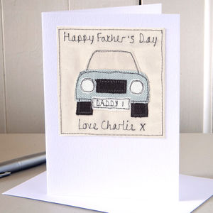 Personalised Fathers Day Car Card