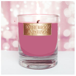 To The Moon And Back Scented Candle - candles & home fragrance