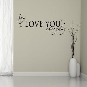Love Quote Wall Sticker - decorative accessories