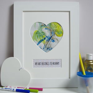 Child's Art Keepsake Gift Kit For Mummy - picture frames for children