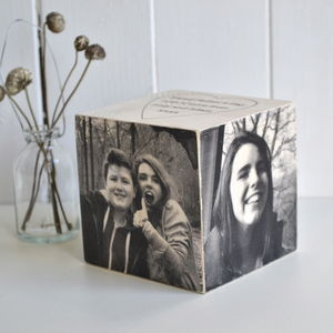 Wooden Memory Cube - decorative accessories