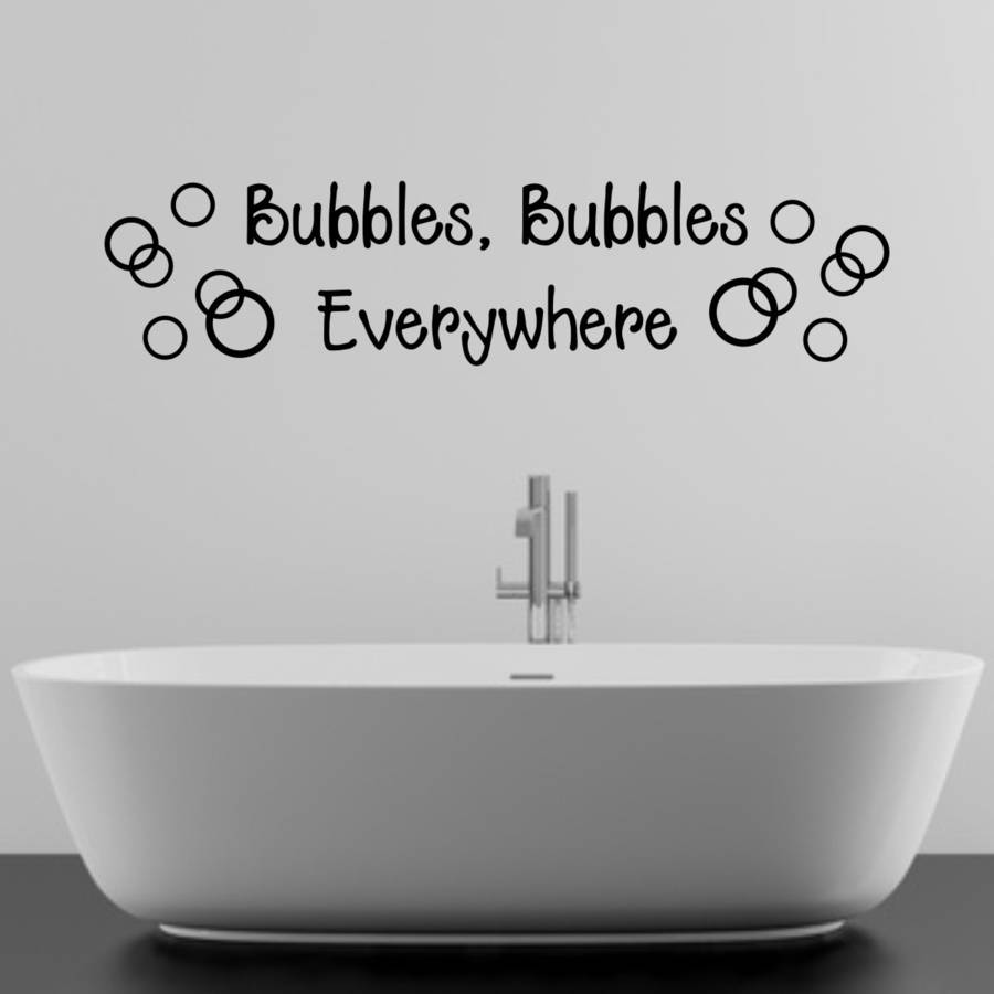 Bathroom Wall Art Bubbles : Bathroom bubbles wall sticker by mirrorin