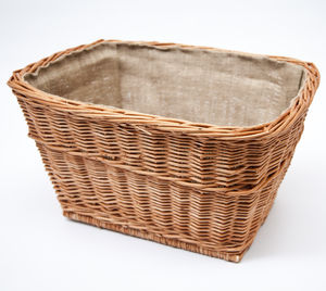 Linen Log Storage Wicker Basket