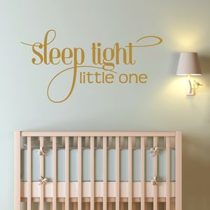 Sleep Tight Wall Sticker - wall stickers