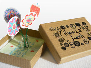 Personalised 'Thanks A Bunch' Thank You Box - cards
