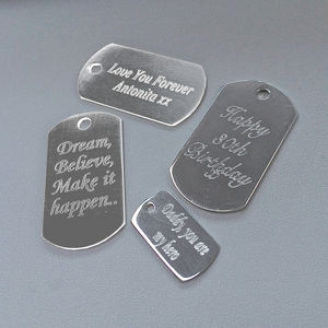 Personalised Sterling Silver Dogtag Charms - charm jewellery