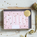 'Thanks' Gold Polka Notecard Set