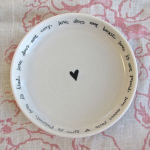 'Love Is Patient' Decorative Porcelain Dish - jewellery storage & trinket boxes