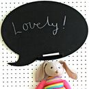 Speech Bubble Chalk Board