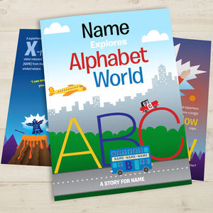 Your Child In Alphabet World Personalised Book - books