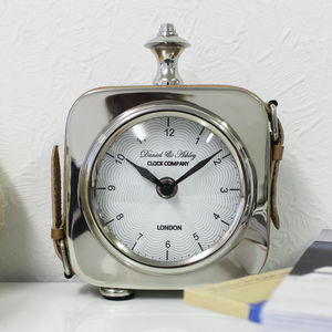 Small Leather Strap Clock
