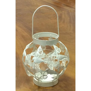 Richmond Butterfly Globe Candle Lantern - candles & candlesticks