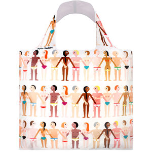 Loqi People Print Reusable Shopping Bag
