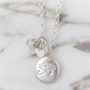 Personalised Mother's Protective Charm Necklace