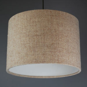 Oatmeal Harris Tweed Lampshade - as seen in the press