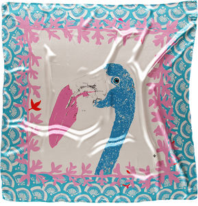Extra Large Flamingo Silk Scarf In Tassled Gift Box - scarves