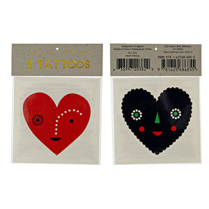 Heart Face Tattoos - party bags and ideas