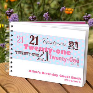 Personalised 21st Birthday Guest Book