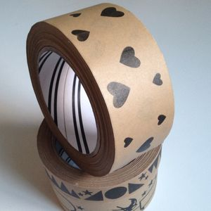 Eco Parcel Tape : Hearts - decorative tape