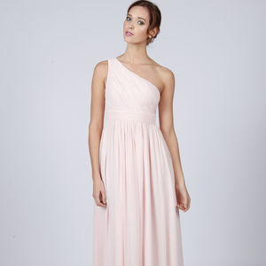 Floor Length One Shoulder Long Bridesmaid Or Prom Dress - wedding fashion