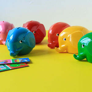 Retro Style Elephant Money Box