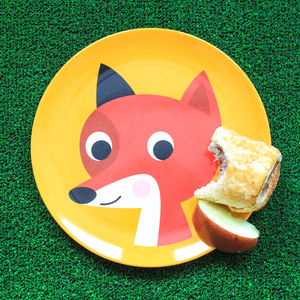 Retro Design Fox Melamine Plate
