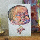 New Baby Art Card By Tom Winter