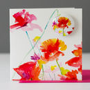 Wild Poppies Card With A Badge To Wear