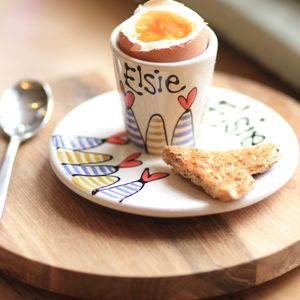Contemporary Personalised Egg Cup - egg cups & cosies