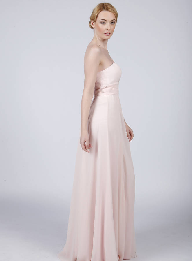 Pale Pink Strapless Dresses