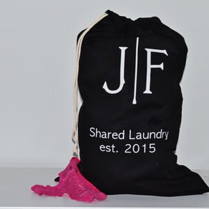 Personalised Couples Laundry Bag - laundry bags & baskets