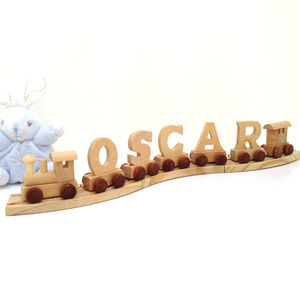 Personalised Wooden Nursery Name Train - traditional toys & games
