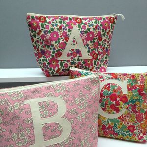 Liberty Print Monogrammed Wash Bag - travel bags & luggage