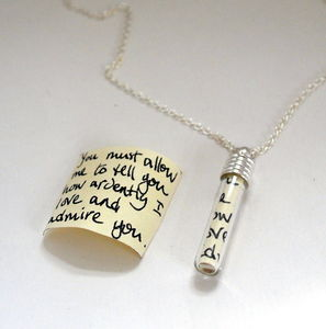 Personalised Message In A Bottle Pendant