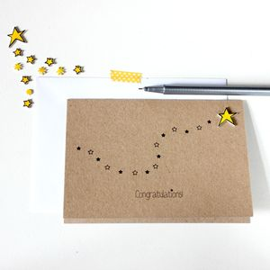 Personalised Star Congratulations Card - shop by category