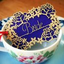 Personalised Papercut Flower Place Card