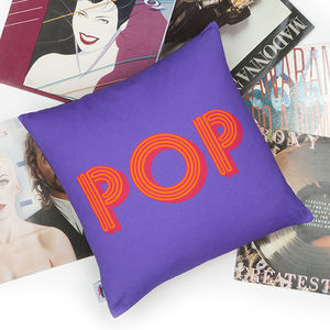 Decades Of Sound Pop Cushion Cover