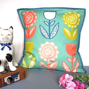 Bold Lollipop Flower Cushion Cover