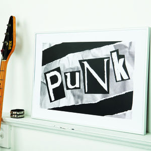 Decades Of Sound 'Punk' Screen Print - music inspired home accessories
