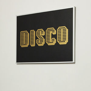Decades Of Sound 'Disco' Screen Print