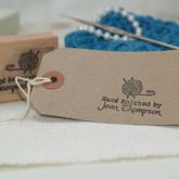 Hand Knitted By Personalised Knitting Stamp - corporate gifts