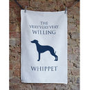 Willing Whippet Linen Union Tea Towel