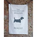 The Brazen Beagle Tea Towel