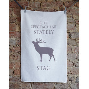 Christmas Stag Tea Towel - kitchen accessories