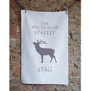 Christmas Stag Tea Towel