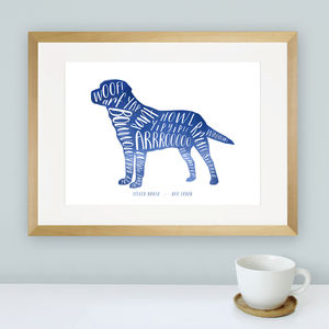 Personalised Dog Lover Print