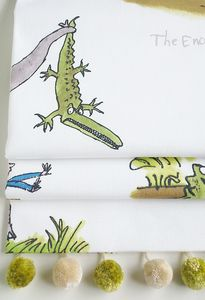 Roald Dahl's 'Enormous Crocodile' Roman Blind - home decorating