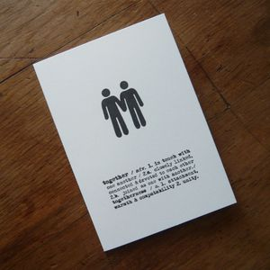 Two Boys Together Card - wedding cards